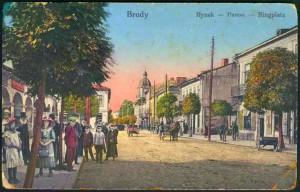 Marktplatz in Brody, 1914, © Wikipedia
