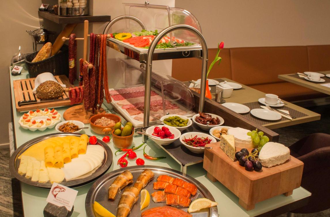 Frühstück in unserem Hotel in Danzig